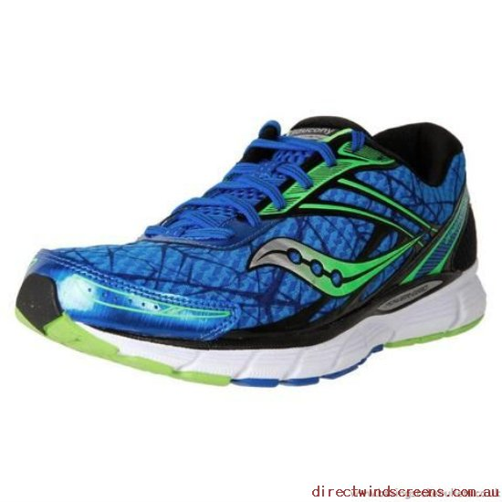 School Shoes - Comments Saucony Men's Breakthru Neutral Running Blue/Lime - Kids OM848486