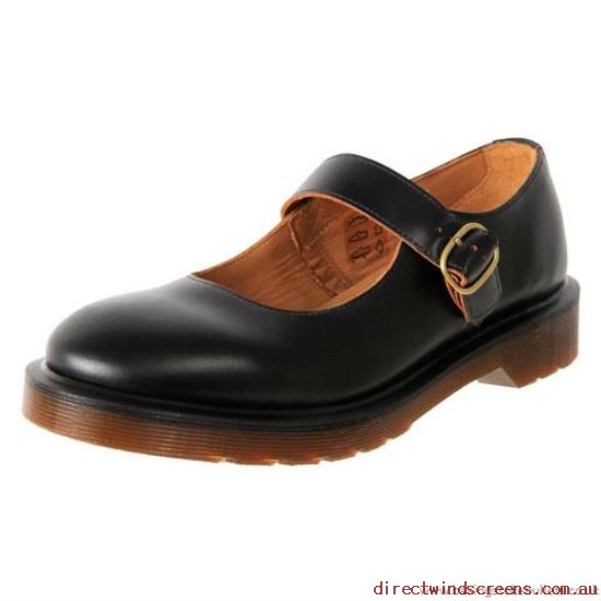 School Shoes - For Sale Clearance Dr. Martens Indica Sativa Mary Jane Black Vintage Smooth - Kids IB580507