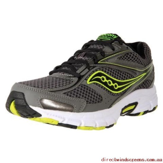 School Shoes - For Sale Clearance Saucony Men's Grid Cohesion 8 Grey/Black/Citron - Kids XP832949