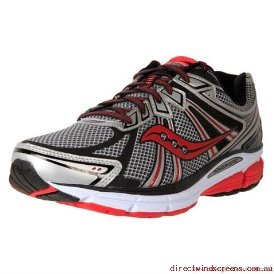 School Shoes - The latest model Saucony Men's Stability Running Omni 13 Silver/Red/Black - Kids BX236137
