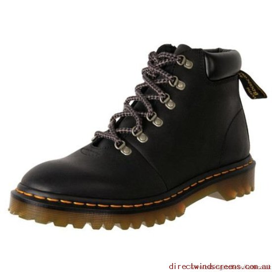 School Shoes - cheap Dr. Martens Core Elmer Padded Collar 6-Tie Boot Black - Kids BV600228