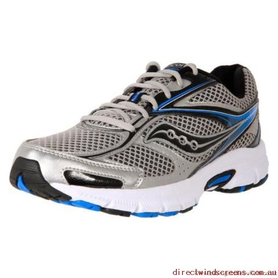 School Shoes - online Spain Saucony Men's Grid Cohesion 8 Sil/Blk/Blue - Kids HU564907