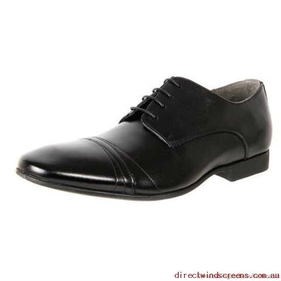 Office Shoes - Discount Julius Marlow Leather Lace Up Dress Shoe Yankee Black - Mens GU173936