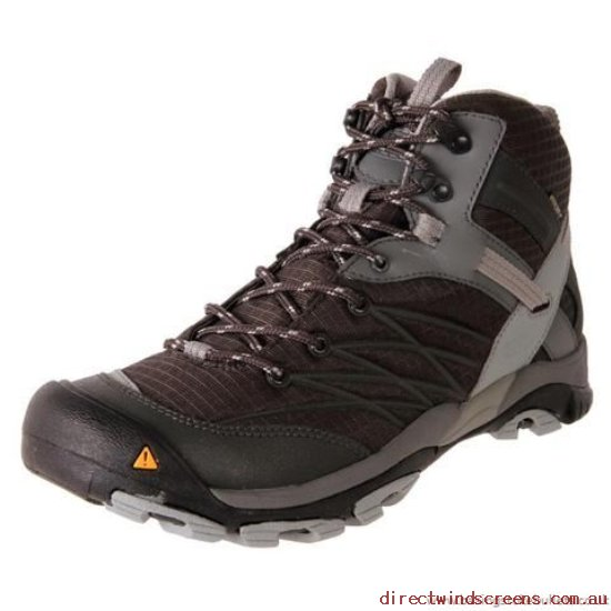 Orthotic Friendly Shoes - Hot Sale Online Keen Men's Marshall Mid Waterproof Raven/Neutral Gray - Mens EZ326630