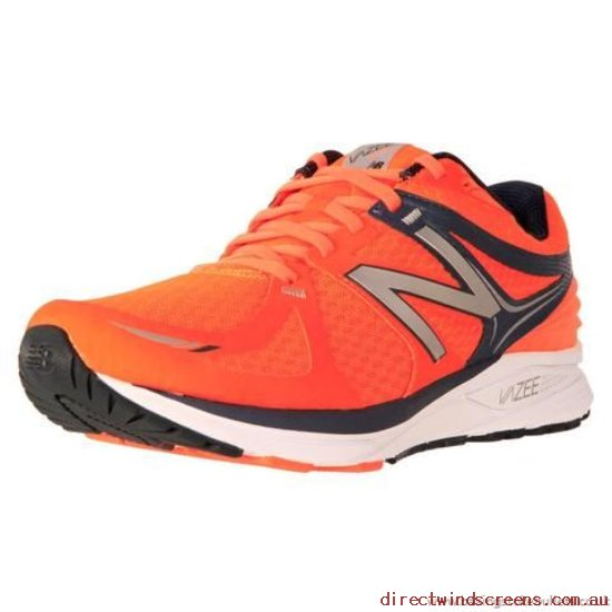 Orthotic Friendly Shoes - good New Balance Men's Stability Running Prism Orange/Grey 2E - Mens JB193400