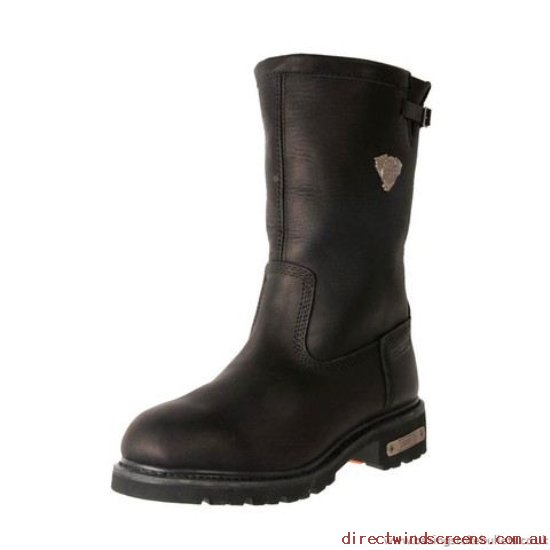 Wide Shoes - Clothes Johnny Reb Bomber Men's Waterproof Motorcycle Boot Black - Mens YV061362