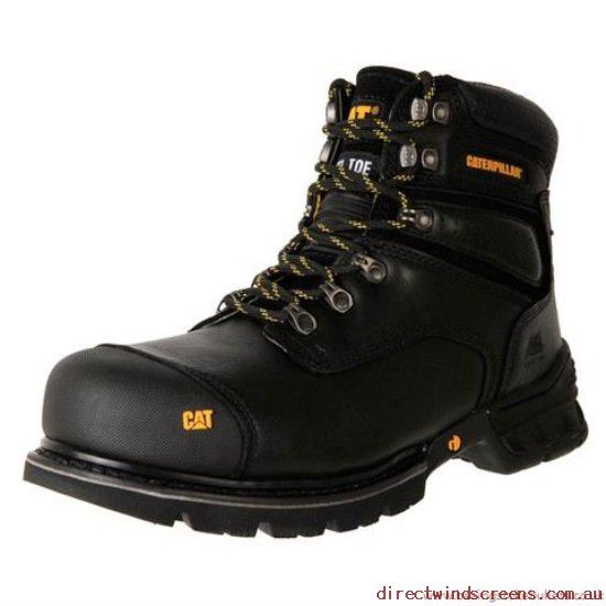 Wide Shoes - Everything is cheap Caterpillar Brakeman Steel Toe Work Boot P717397 Black - Mens XQ729249