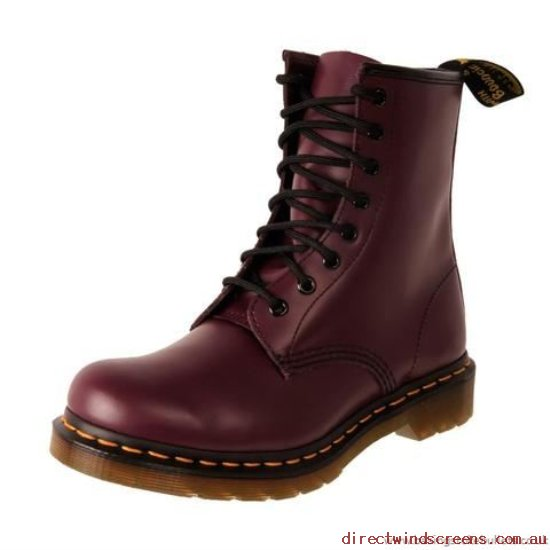 Boots - Authentic Dr. Martens 1460W Purple Smooth 11821500 - Women AM586184
