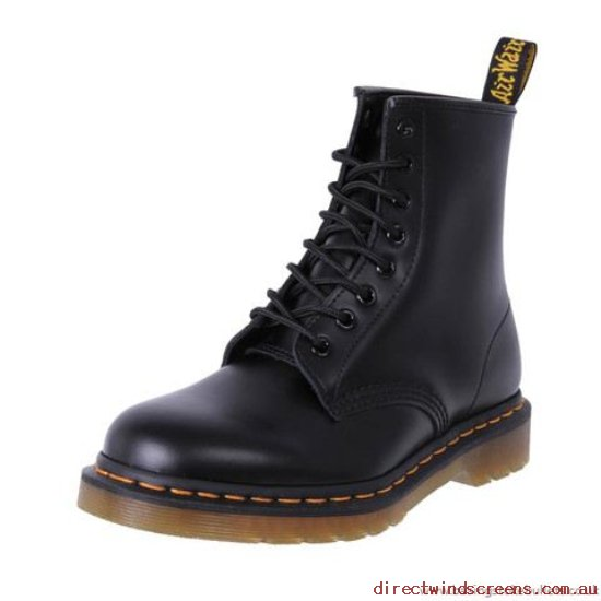 Boots - New style Dr. Martens 1460Z 8 Ups Black Smooth Women's - Women QW467418