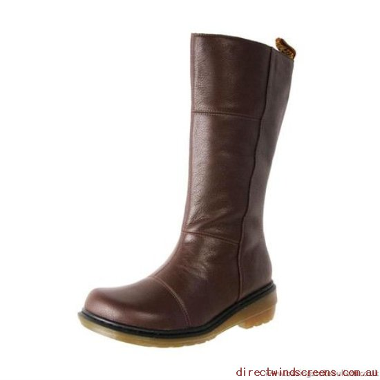 Boots - Official Dr. Martens Moll Charla Calf Zip Boot Rich Brown - Women LD880561