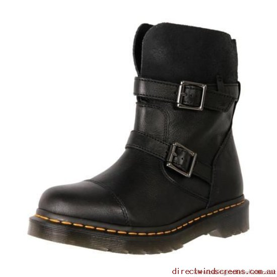 Boots - cheap Dr. Martens Rapture Kristy Slouch Rigger 20345001 Black - Women PP727392