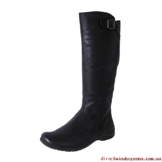 Comfort Shoes - Designed Planet Shoes Women's Leather Comfort Tall Boot Spire Black - Women OJ416078