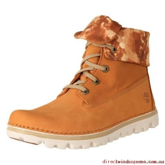 Comfort Shoes - Genuine Timberland Women's Brookton Fabric Roll-Top Ankle Boot A14D9 Wheat - Women RD456906