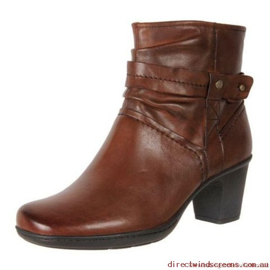 Dress & Party Shoes - Buy now Planet Shoes Women's Leather Comfort Dress Ankle Boot Bala Brown - Women QB283755