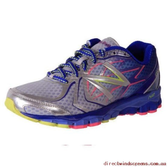 Orthotic Friendly Shoes - Online No Sales Tax New Balance W1080By4 Neutral Running Blue/Yellow - Women TY002594