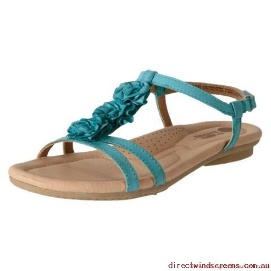 Walking Shoes - best Selling Planet Shoes Women's Leather Casual Comfort Sandal Frilly Teal - Women DK613452