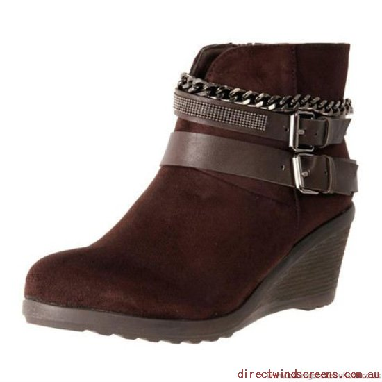 Wedges - Buy Cheap No Shoes Grinder Brown Suede - Women CL256012