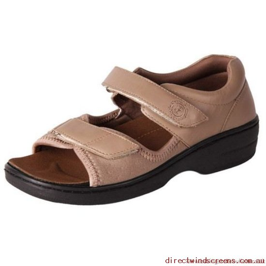 Wide Shoes - Clothes Pure Comfort Peru Taupe Wide (D) - Women LT476826