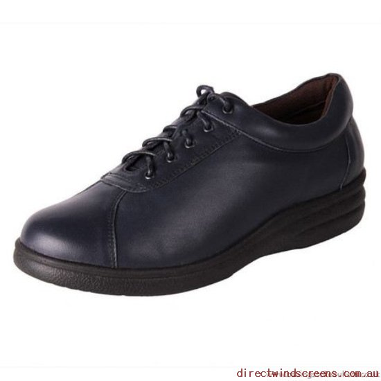 Wide Shoes - Discount Pure Comfort Softly Navy - Women WN347394