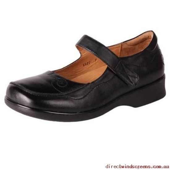 Work & Duty Shoes - Shop Starting Line Pure Comfort Women's Wide Leather Work Shoe Katie Black - Women QD259278